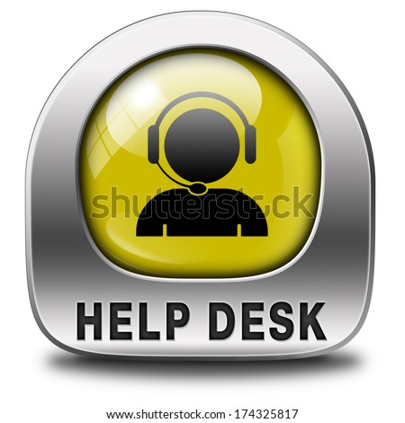 help desk or consult icon or button or online support call center customer service - stock photo