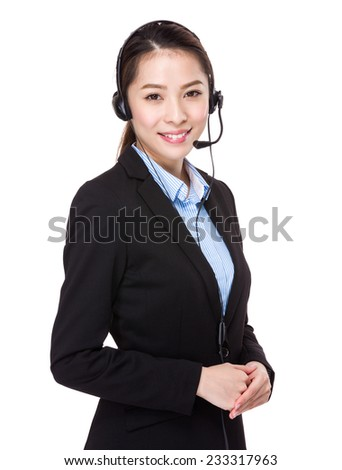 Help desk supporter - stock photo