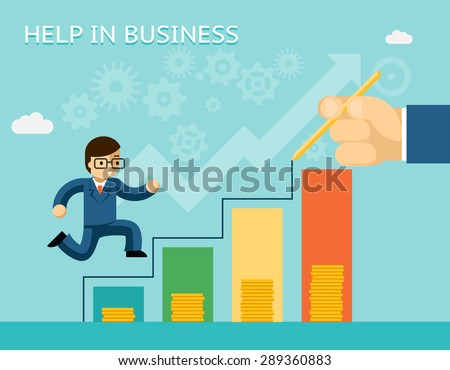Help in business concept. Partnerships and mentoring. Mentor and success, advice, and partner - stock photo