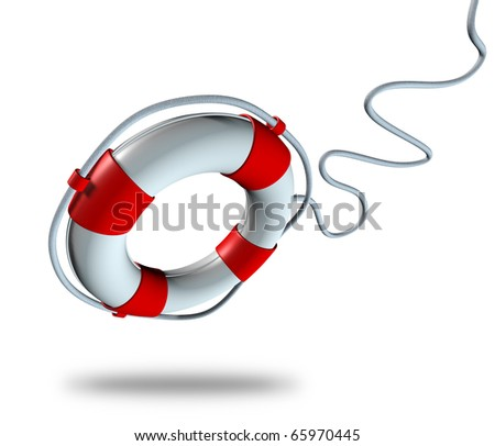 Help life preserver save belt emergency relief isolated rope symbol - stock photo
