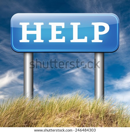 help online support give us a helping hand we you to give us assistance - stock photo