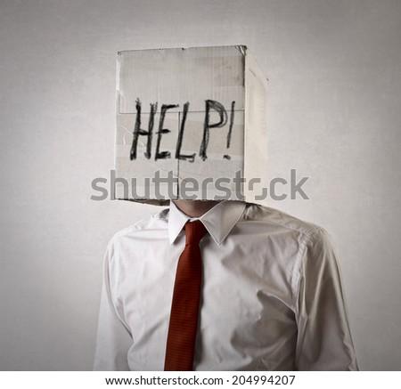 help request - stock photo