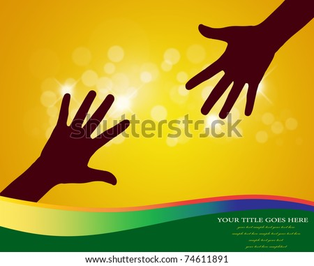 Helpful hands with copy space vector. - stock photo
