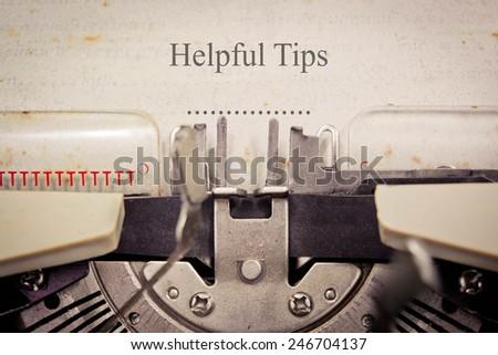 Helpful Tips - stock photo