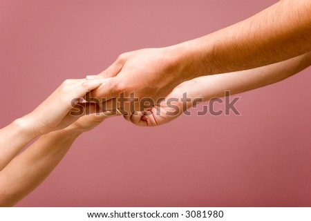 helping hands + PATH - stock photo