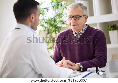 Helping the senior holding hand, healthcare old people - stock photo