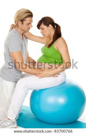 helping to breathe - stock photo