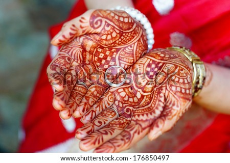 Henna wedding design - stock photo