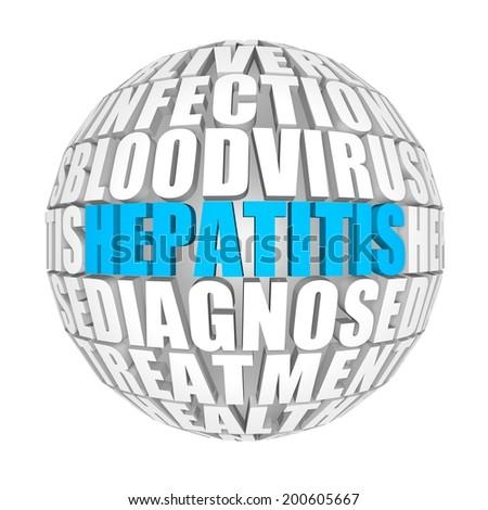 Hepatitis. - stock photo