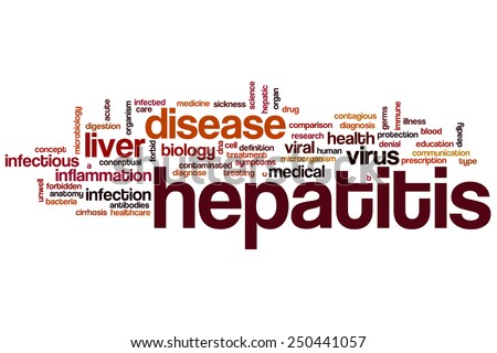 Hepatitis word cloud concept - stock photo