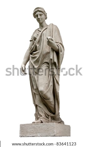 Hera (identified with Juno by the Romans) is the Olympian Goddess of Marriage, protector of family and married women. Hera is the wife of Zeus, the king of Gods. - stock photo