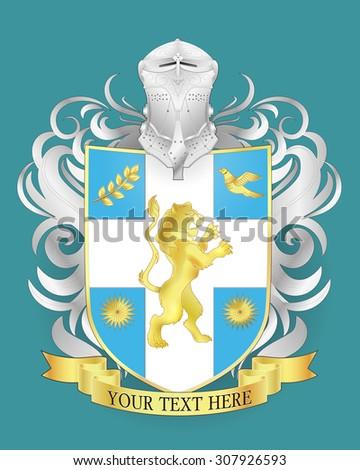 Heraldic royal crests coat of arms. Heraldry template - stock photo