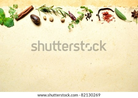 Herb and spice - stock photo