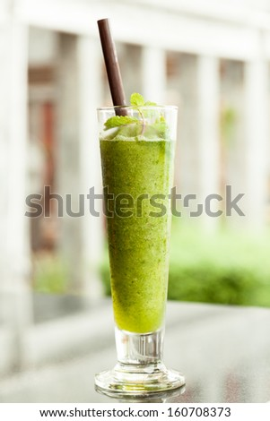 Herb drink mint and lime . - stock photo