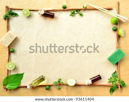 Herb,lime and aromatherapy - stock photo