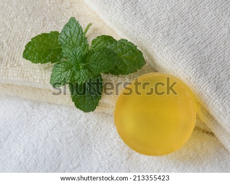 Herb soap of  gentle fragrance - stock photo