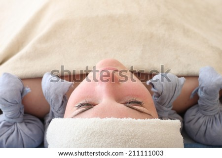 Herbal aromatherapy in spa salon - stock photo