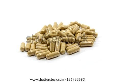 herbal  capsule - stock photo