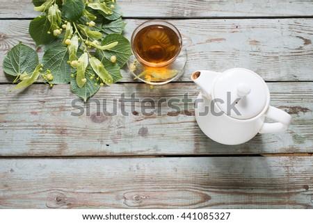 Herbal linden tea - stock photo