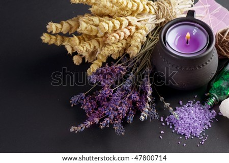 Herbal Medicine over black - stock photo