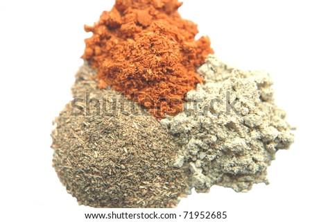 Herbal powder - stock photo
