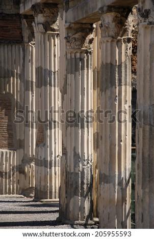 Herculaneum archaeological site, Ercolano, Italy - stock photo