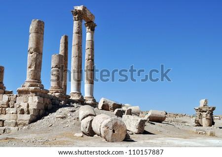 Hercules Temple - stock photo