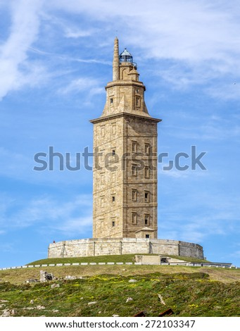Hercules tower , La Coruna, Galicia, Spain, UNESCO - stock photo