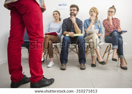 Here comes the time of serious decisions - stock photo