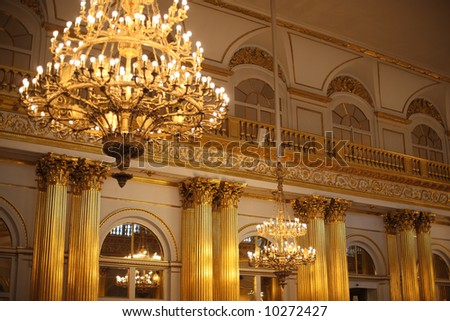 Hermitage in Saint Petersburg, Russia, Europe - stock photo