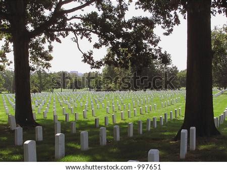 Heroes at Arlington National Cemetery - stock photo