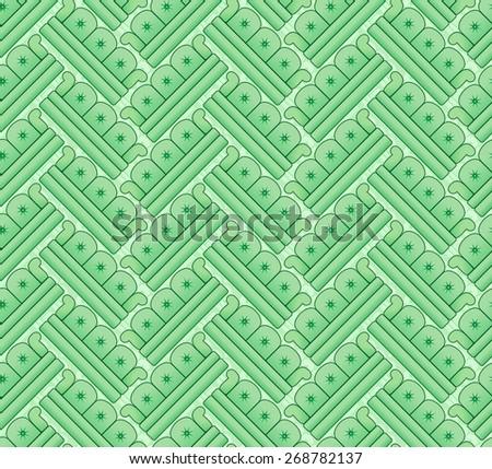herringbone pattern of sofas - stock photo