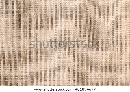 Hessian sackcloth woven texture pattern background tan sepia beige cream brown color tone: Eco friendly raw organic flax cloth fabric textile backdrop: Bag rope thread detailed textured burlap canvas - stock photo