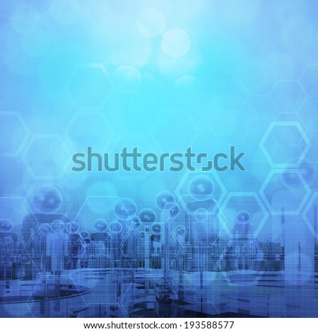 hexagon abstract medical background - stock photo