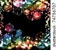 hexagon bokeh background - stock photo