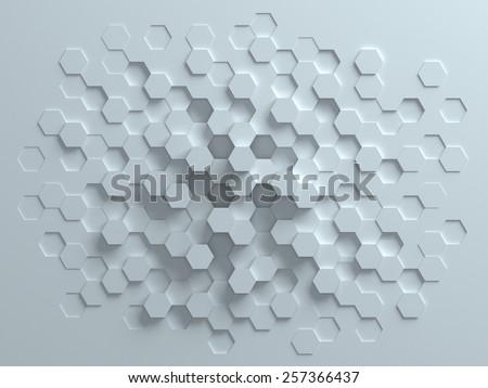 hexagonal abstract 3d background - stock photo