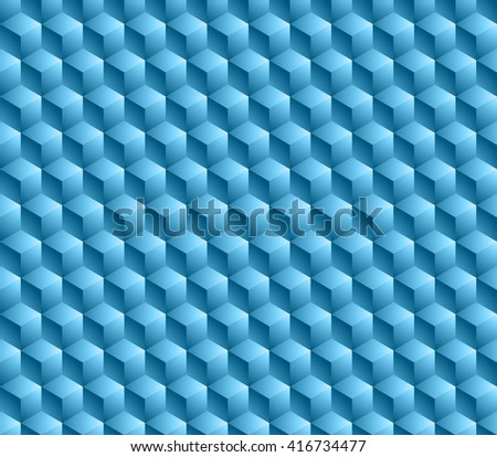 Hexagonal grid background. Cube  seamless background. Modern style texture. - stock photo