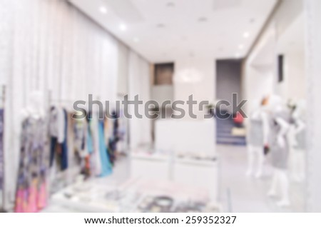 Hi end store blur background with bokeh - stock photo