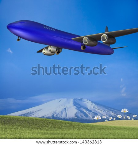 Hi let's go travel for adv or others purpose use - stock photo