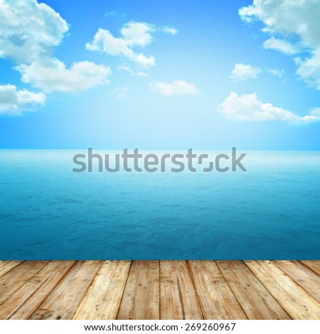 Hi resolution grunge background with space for text or image. Wall and floor concept. A Cityscape on the wall - stock photo