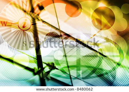 Hi-Tech Abstract Internet Background - concept for Internet information highway. Great as a background or a design element. - stock photo