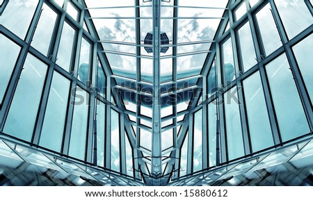 hi tech architecture - stock photo