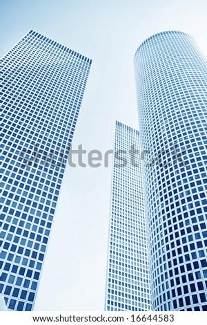 hi tech modern office building - stock photo