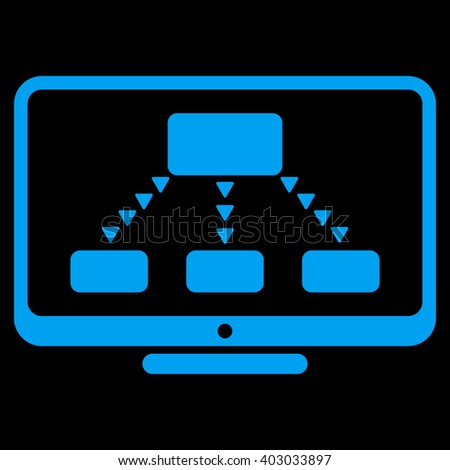 Hierarchy Monitoring raster icon. Hierarchy Monitoring icon symbol. Hierarchy Monitoring icon image. Hierarchy Monitoring icon picture. Hierarchy Monitoring pictogram. - stock photo