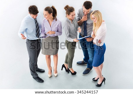 High angle of business people  - stock photo