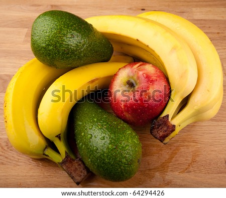 high angle view of fruits - stock photo