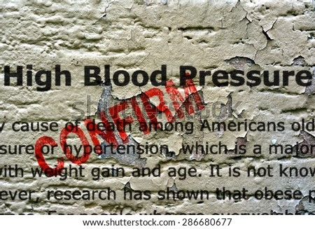 High blood pressure - stock photo
