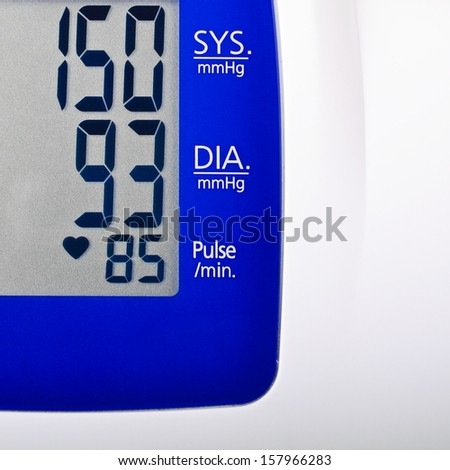 High blood pressure reading - stock photo