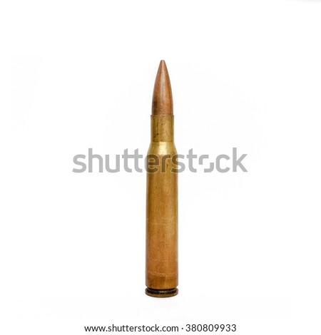 High Caliber Rifle Bullet - stock photo