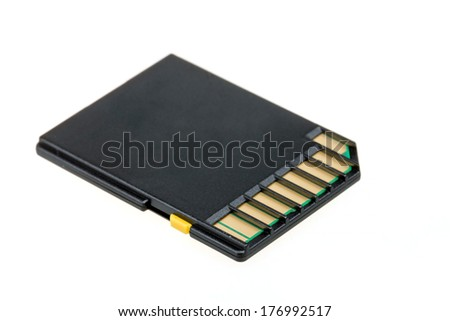 High capacity sd-card isolated on a white background  - stock photo
